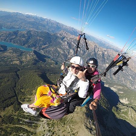vue sommet des hautes alpes